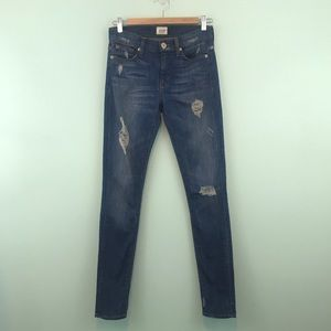 Hudson Nico Midrise Super Skinny Distressed Jeans